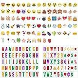 Lettres Lightbox, CrazyFire 199 Nombres, Lettres, Symboles et Emojis Colorées pour Lightbox A4, Fête Noël Halloween Décoration