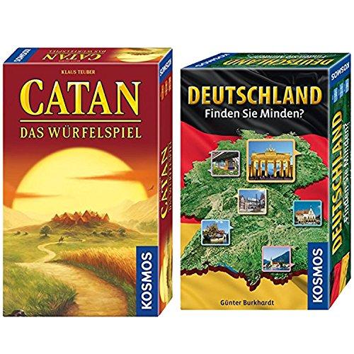 KOSMOS 2er Set 711412 699093 Deutschland - Finden Sie Minden? + Catan - Strategiespiel