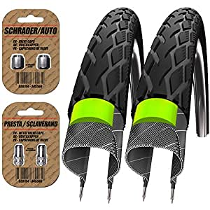 2 x schwalbe marathon tyres a pair road race cross bikes. Black Bedroom Furniture Sets. Home Design Ideas
