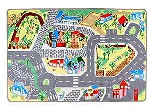 """Spielteppich Kinderteppich """"Meine Stadt"""" von Teppino (100x150cm)"""