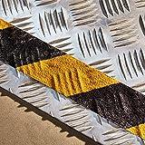 NAC Safety Bande Antidérapante Self-Adaptive – Puissant adhésif Auto adaptatif et antidérapant pour Les Surfaces irrégulières et avec Motifs (5cm x 18,3m, Noir et Jaune)