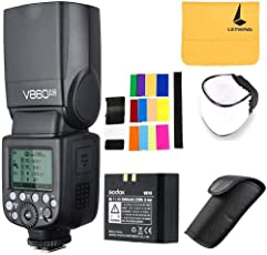 Godox Ving V860II-N 2.4G TTL Li-on batteria fotocamera Flash Speedlite per Nikon D700 D300S D810 D610 D90 (V860II-N)