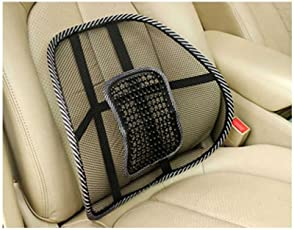 Style Eva Cool Mesh Back Massage Support Brace Cushion Backrest Car Seat Chair Pad (Multicolour)
