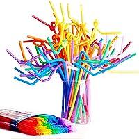 Wlabe Flexibles en Colorées, Adaptées à Diverses Boissons, Matériel de Sécurité, pour Boire Fêtes Enfants Adulte (A…