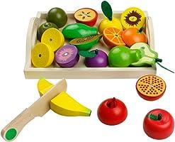 Cortar Frutas Verduras Juguetes Frutas y Verduras Juguete para Cortarcocinas de Juguete Para Niños Juguete de Cocina Regalos para Cumpleaños Infantiles