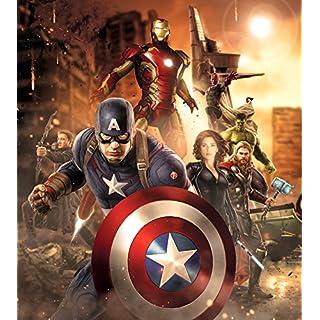 AG Design FTDXL 1943  Avengers Marvel, Papier Fototapete Kinderzimmer- 180x202 cm - 2 teile, Papier, multicolor, 0,1 x 180 x 202 cm