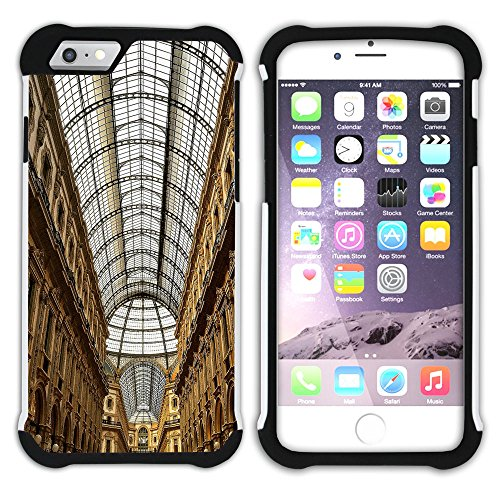 Graphic4You Mailand Italien Postkarte Aussicht Hart + Weiche Kratzfeste Hülle Case Schale Tasche Schutzhülle für Apple iPhone 6 Plus / 6S Plus Design #19