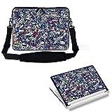 17 43,94 cm Notebook Tragetasche mit verstecktem Griff & verstellbaren Schulterriemen und passendem Sticker - Zeitungsständer News Clip Design