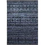 wecon Home Alfombra Contemporary Kelim WH de 0658–07, negro, gris, 200 x 290 cm