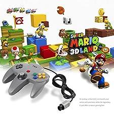 YKS Mando Nintendo 64 Joystick N64 Consola de Juegos Controlador con Cable Largo, Color Gris