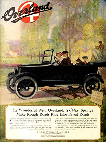 own - Canadian Home Journal 1920 Advert for Overland Motor-Cars Kunstdruck (45,72 x 60,96 cm) ()