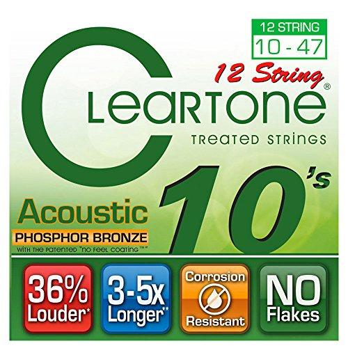 Cleartone cl741012Spiel von 12Saiten für Akustik grün