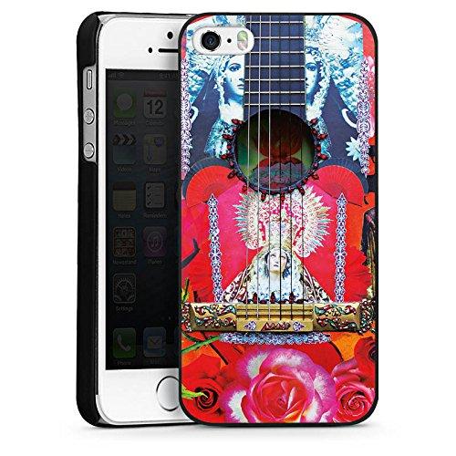 Apple iPhone 4 Housse Étui Silicone Coque Protection Guitare Rouge Espagne CasDur noir
