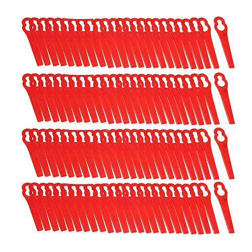 ChaRLes Cuchillas De Plástico Rojas 100Pcs Para La