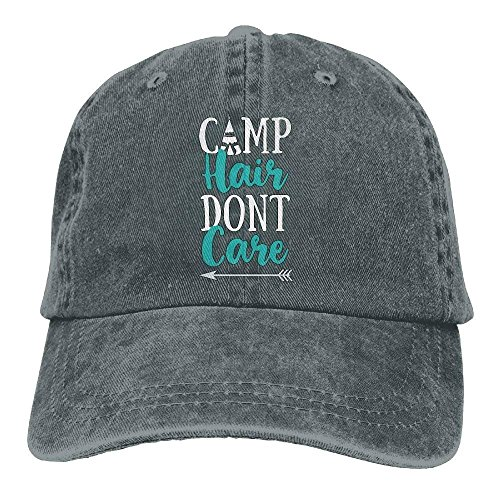 Xukmefat 2019 Adult Fashion Cotton Denim Baseball Cap Camp Hair Don't Care-3 Classic Dad Hat Adjustable Plain Cap 0739