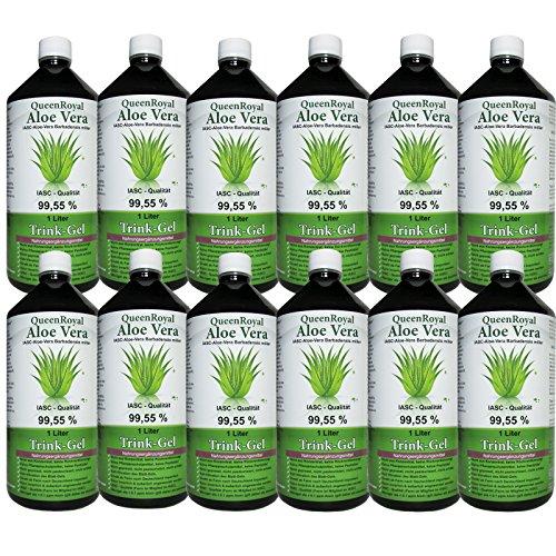 QueenRoyal Aloe Vera Trink Gel 99.55% pur 12 Liter Sparpack #30258G