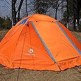 AYUE® Outdoor Instant Doppeltes Popup-Kuppelzelt - Einfaches, Automatisches Setup - Idealer Schutz Für Zwanglose Familienwanderungen,Orange