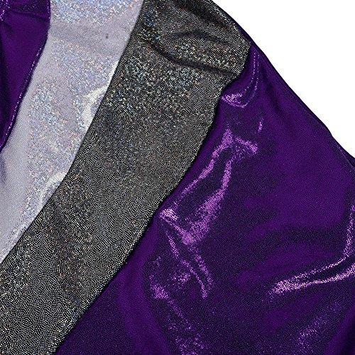 Body Ginnastica Bambina,KISSION Ragazza Body Maniche per Costumi di Danza Viola