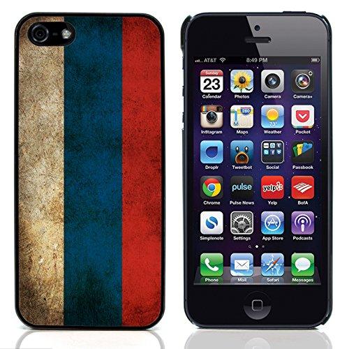 Graphic4You Vintage Uralt Flagge Von Deutschland Deutsch Design Harte Hülle Case Tasche Schutzhülle für Apple iPhone 5 und 5S Russland Russisch