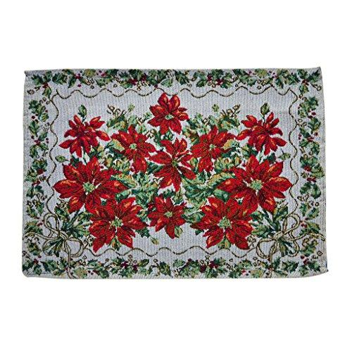 Flor Roja De Navidad Tapicería Tabla Manteles Impreso Decoración Multicolor - #...