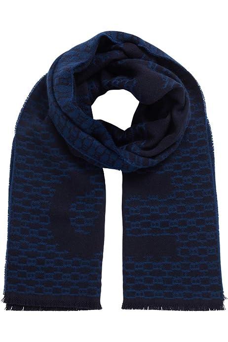 BOSS Hugo Axel 68/% Wo, 16/% CO, 16/% PC, 170 x 35 cm Bufanda para hombre azul oscuro Talla /única