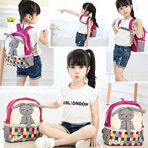 Imagen de  infantil barata guarderia niños escolar tela conejo mascotas preescolar bambino saco rosa niña alternativa