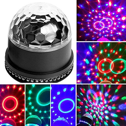Licht-Bühne Kugel schwenkbar Sprachsteuerung/Automatische ideal für DJ, KTV, Disco, Disco, Party, Hochzeit (Am Besten Kaufen Sie Halloween)