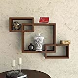 #7: Onlineshoppee Intersecting MDF Set of 3 Wall Shelves