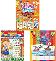 Brilliant Brain Activity Book 3++My Activity- Phonics Activity Book+Lines and Curves (Pattern Writing) - Part