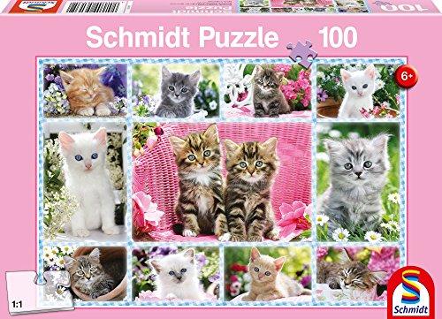 Schmidt Spiele  Katzenbabys (100 Teile Puzzle Erwachsenen)