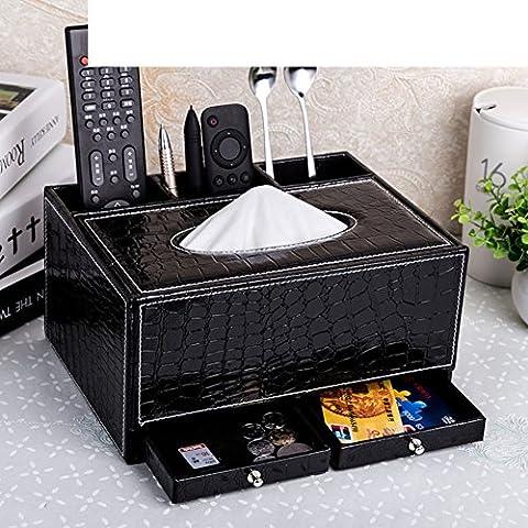salón hogar tejido multifuncional caja/Estilo europeo escritorio creativo libro caja/ Caja de almacenaje del mando a distancia de