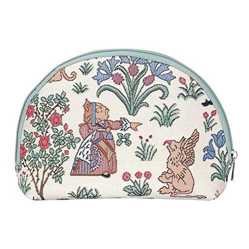 Ungewöhnlich Mädchen-Damen Tragbare Kosmetiktasche-Schminktasche von Signare/Tapisserie Waschtasche Reise-Make-up Speicher/Alice in Wonderland Charles Voysey BGCOS-ALICE