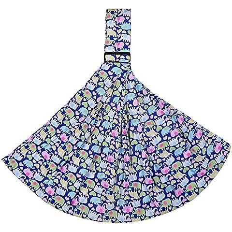 Allisandro & Baby Algodón Floral Fular Portabebés para Infantes Portador Baby Sling Estampado