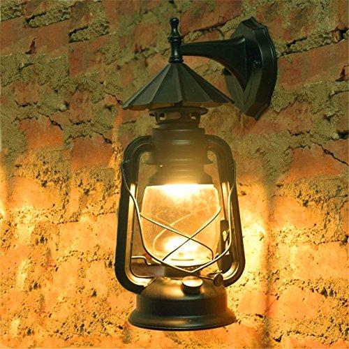 BOOTU Bougeoir LED et descendre appliques La lumière antique balcon piscine nostalgique étanche double style industriel wall light bar Mobilier lampes à kérosène,P