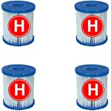 Générique 4 Cartouches de Filtration Intex pour Filtre Piscine - Intex Type H