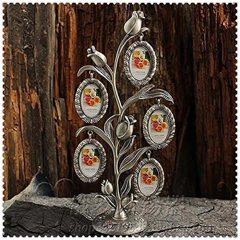 Russland Zinn klassischen europaischen Retro-Zinn-Fotorahmen Bilderrahmen Tulpe funf Funfblattbaume wie Rahmen