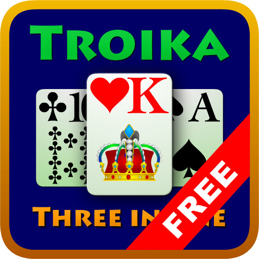 Troika (Kostenloses Solitaire-kartenspiel)