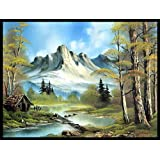 Wall Poster Mountain Cabin . With Matte Finish Decor Wall Sticker Art For Bedroom, Living Room, Office, Home, Kitchen, Drawing Room Vinayl, Wall Art Poster High Quality, Vibrant Print - Size: (12x18 Inches Or 18x12 Inches)