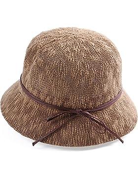 LVLIDAN Sombrero para el sol del verano Lady Anti-sol Sombrero pescador color café