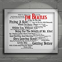 The Beatles - Sgt. Pepper's Lonely Hearts Club Band - Firmada y numerada edición limitada pared arte tipografía Print - Song Lyrics Mini Poster