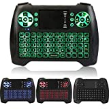 Mini Wireless Keyboard 2.4Ghz Backlit Keyboard Touchpad Mouse Combo Multifunction Portable Handheld Remote Control for Android Google Smart TV Box, Raspberry Pi 3, HTPC, Xbox, IPTV
