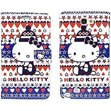 Flip Cover Samsung Galaxy Note 3cierre magnético Hello Kitty Azul Rojo