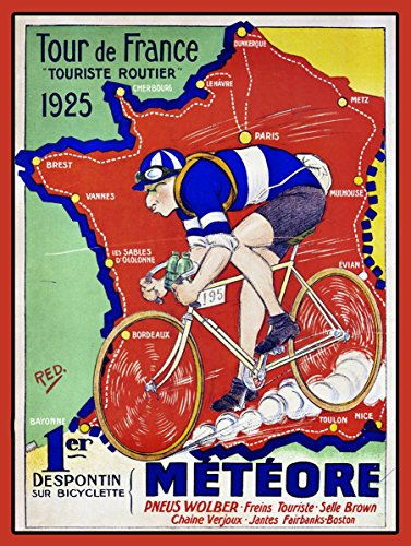 SHAWPRINT Tour de France 1925Wandschild/Plakette Retro Stil Metall Dose NEUHEIT Geschenk Shabby Chic -
