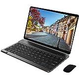 Tablet 10 Pollici con Tastiera 64GB ROM 4GB RAM 4G Wifi Octa-Core,Android 9.0 Dual Sim,Dual Fotocamera Voukou S9(Nero con Tas