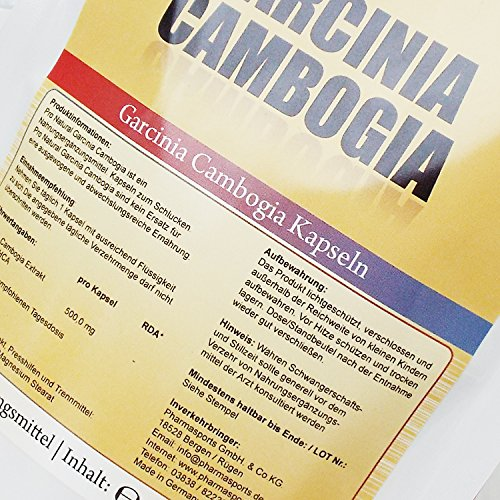 Garcinia Cambogia 100 Kapseln mit ultra pure Qualität (60% HCA) des Original Garcinia Cambogia Extrakt / Extract