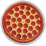 paisdola Dick Strand Decke rund Roundie mit Fransen Quasten Pizza