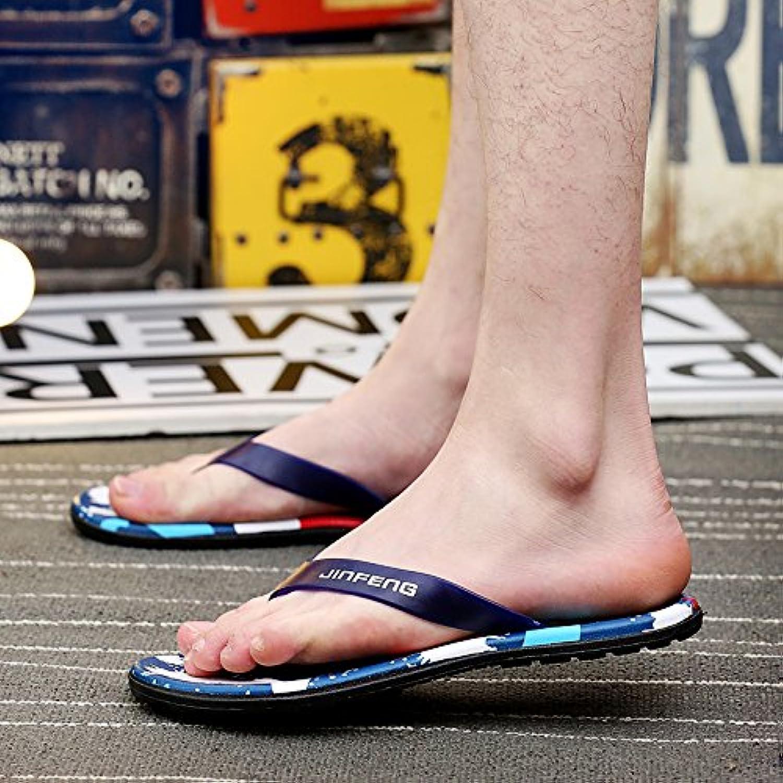 ZHNAGJIA der Sommer Herren Flip Flops  Toe Sandalen  Koreanischer Mode Strand Hausschuhe  39  Blau