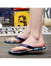 ZHNAGJIA der Sommer Herren Flip Flops Toe Sandalen Koreanischer Mode Strand Hausschuhe 42 Rot