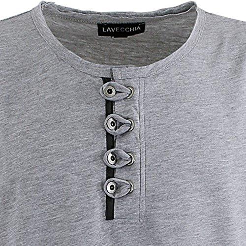 Übergrössen !!! WOW !!! Hippes T-Shirt Kurzarm LAVECCHIA 3 Farben LV 118 Grau-Meliert