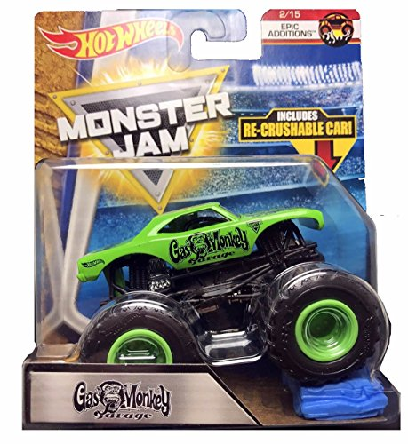 Monster Jam 2018 Hot Wheels Epic Additions 2/15 - Gas Monkey Garage (Includes Re-Crushable Car)